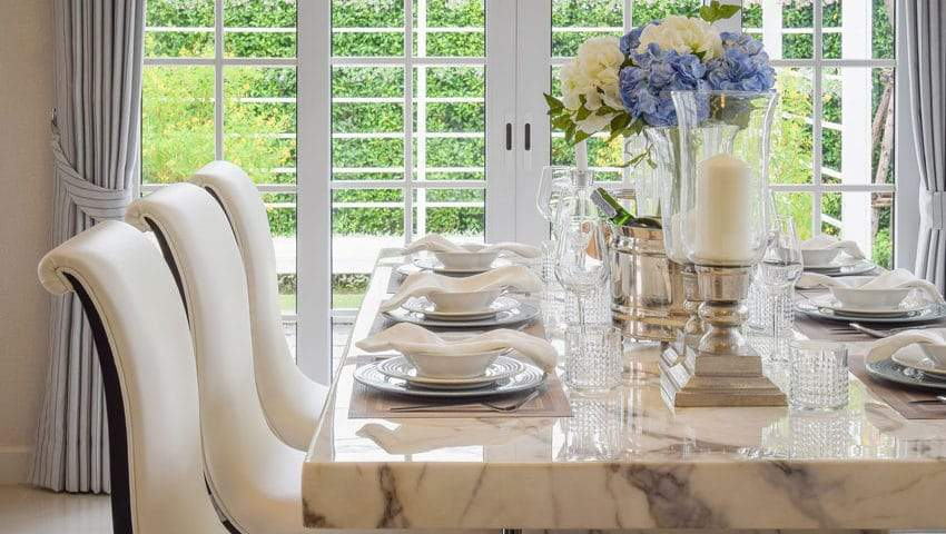 marble dining table gold coast