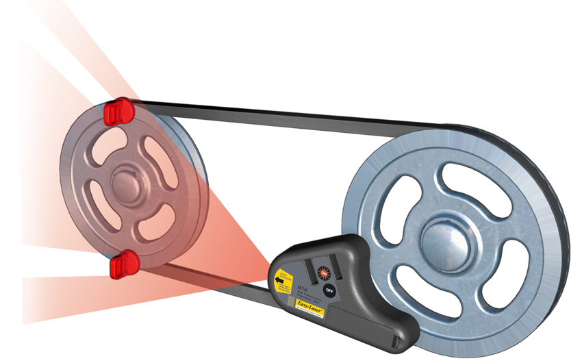 Easy Laser Belt Alignment Tool