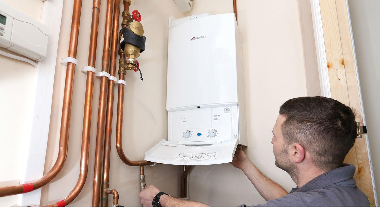 gas central heating installation